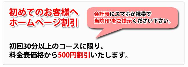 インターネット割引:東京都台東区のマッサージ ぎっくり腰、はり、骨盤矯正なら 森の治療院